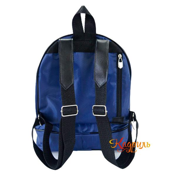 Рюкзак для девочки с аппликацией синий. Рис. 2