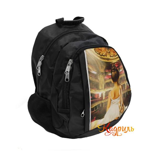 Детский черный рюкзак с балериной. Рис. 2