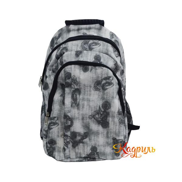 Спортивный рюкзак серый. Рис. 1