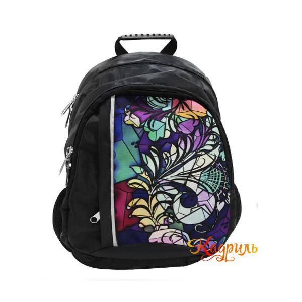 Детский черный рюкзак с рисунком. Рис. 1