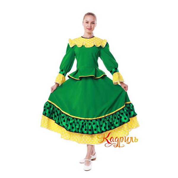 Костюм танцевальный в горох зеленый. Рис. 3