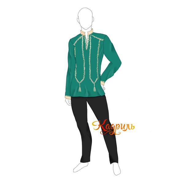 Рубаха бирюзовая стилизованная. Рис. 1