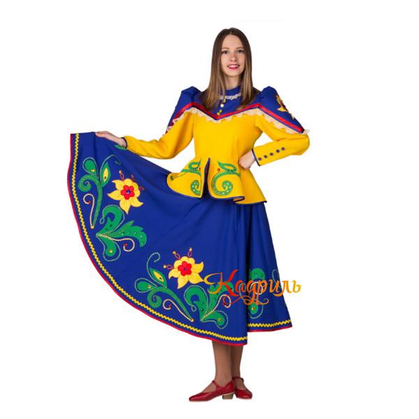 Костюм народный желто-синий. Рис. 1