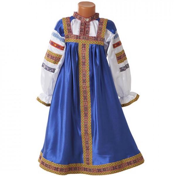 Русский народный сарафан детский. Рис. 1