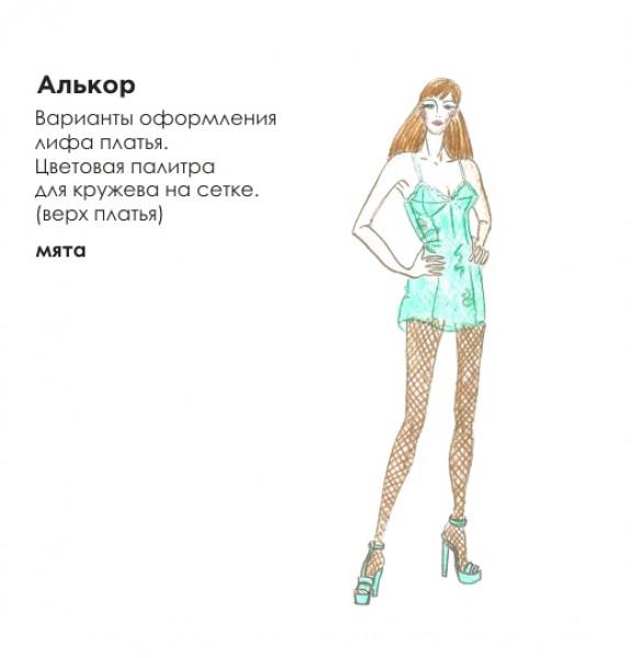 Эскиз короткого платья. Рис. 6