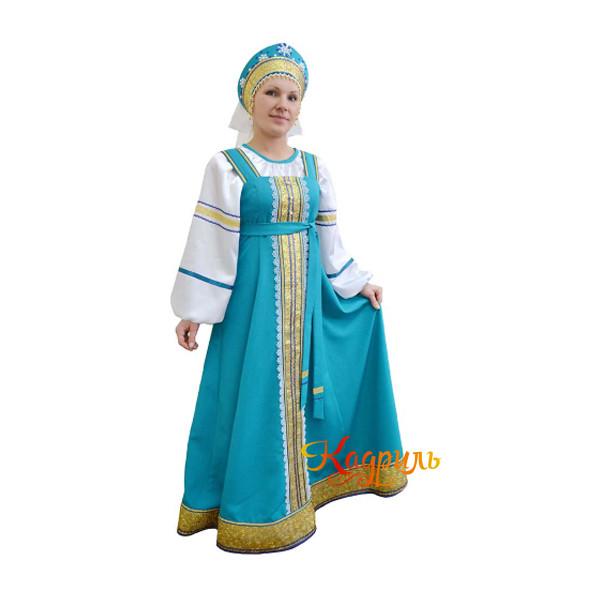 Народный сарафан женский. Рис. 1