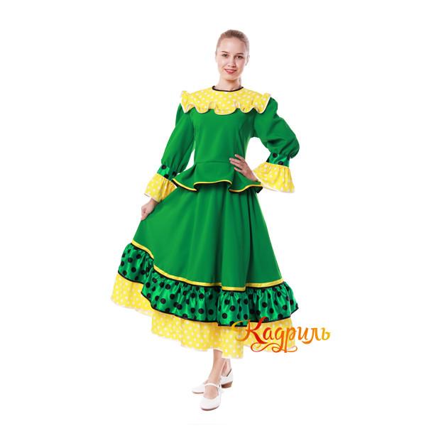 Костюм танцевальный в горох зеленый. Рис. 4