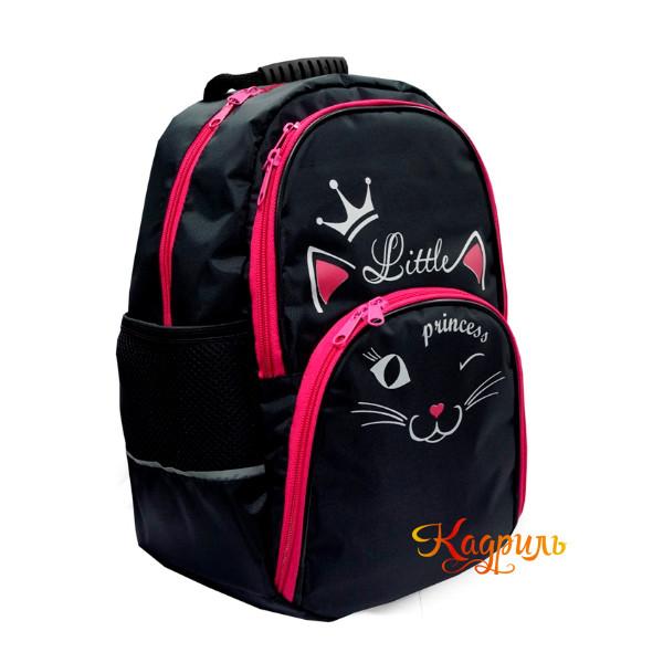 Рюкзак для девочки с розовой кошкой. Рис. 2