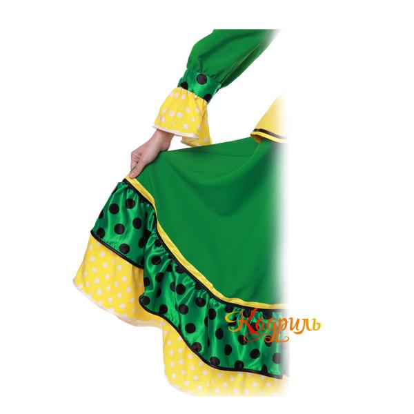Костюм танцевальный в горох зеленый. Рис. 5