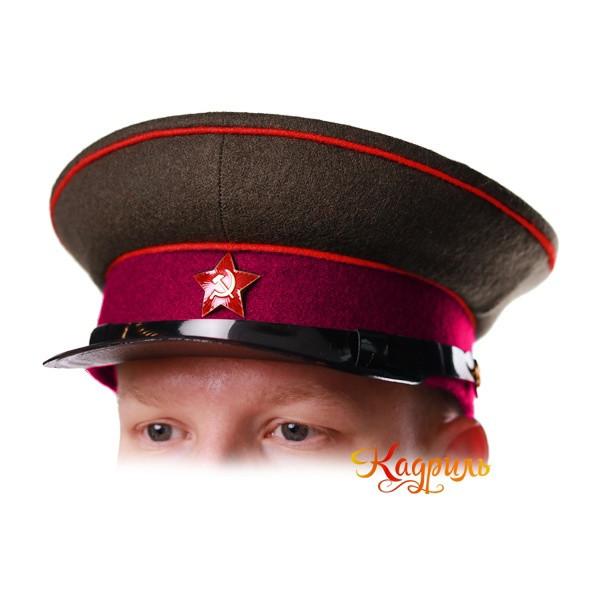 Фуражка РККА пехота. Рис. 1