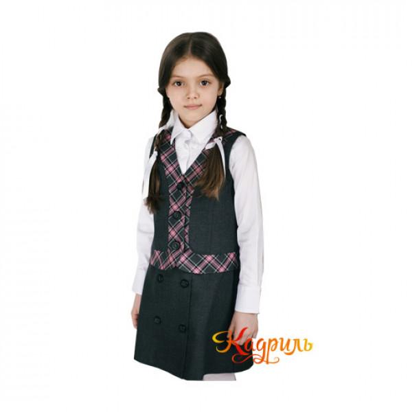 Школьная форма на девочку 10 лет. Рис. 1