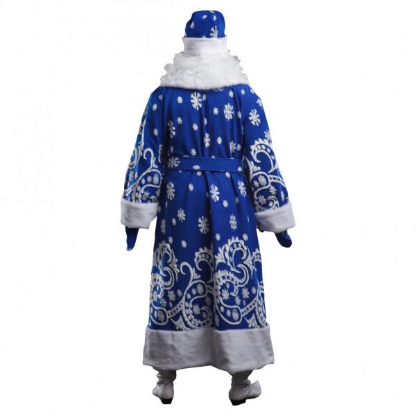 Костюм Деда Мороза синий с мехом. Рис. 3
