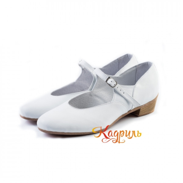 Туфли народные белые. Рис. 6