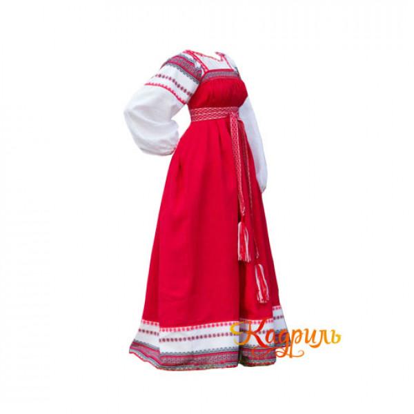 Народный костюм красно-белый. Рис. 1