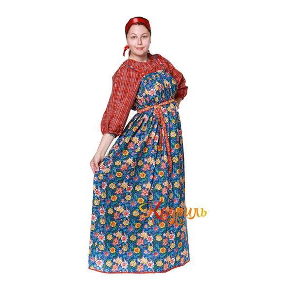 Костюм народный Варвара в цветок. Рис. 3