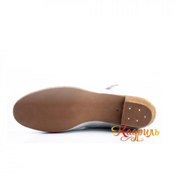Туфли народные белые. Рис. 5