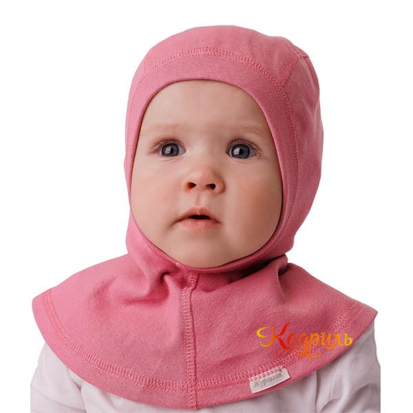 Детская шапка-шлем с манишкой