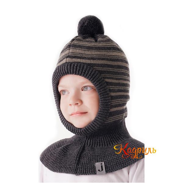 Детская шапка-шлем вязаная. Рис. 1