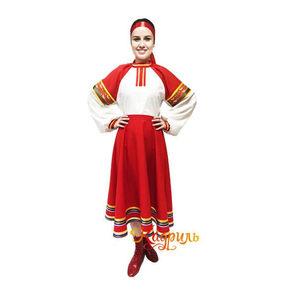 Рязанский стилизованный танцевальный костюм. Рис. 2