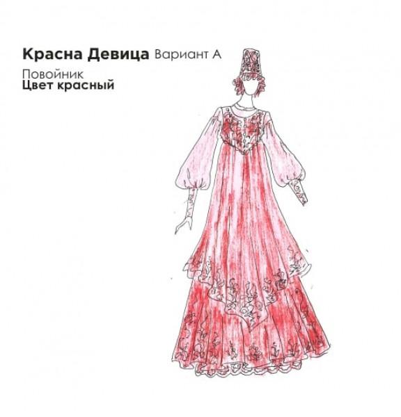 Эскиз русского платья. Рис. 3