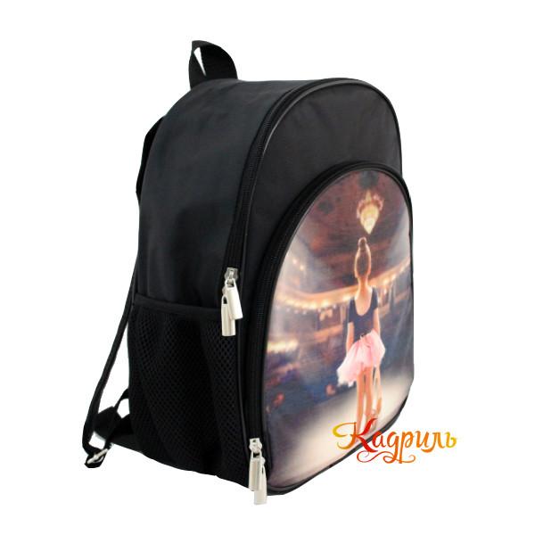Маленький рюкзак с балериной черный. Рис. 2