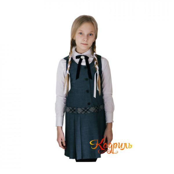 Школьная форма для девочек подростковая. Рис. 1
