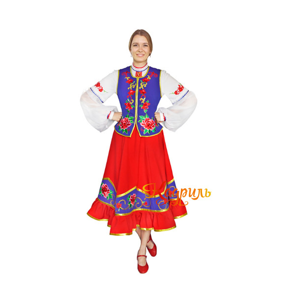 Казачий танцевальный костюм. Рис. 1