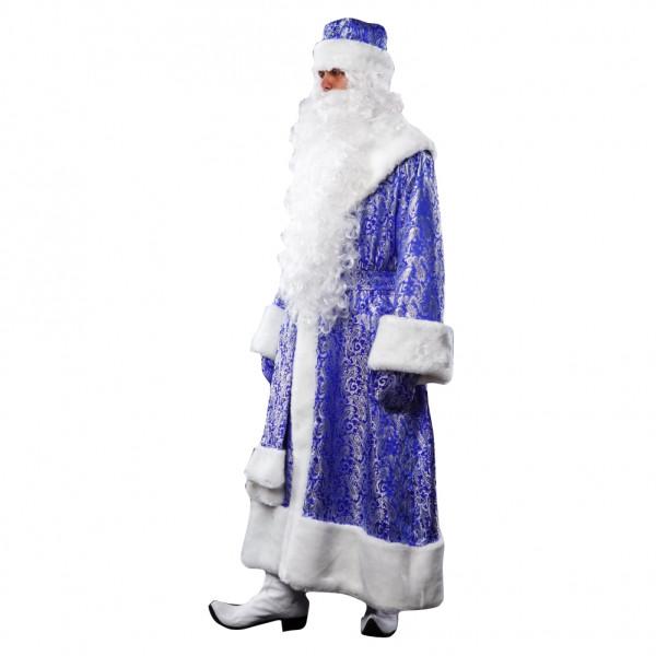 Костюм Деда Мороза синий классика. Рис. 2