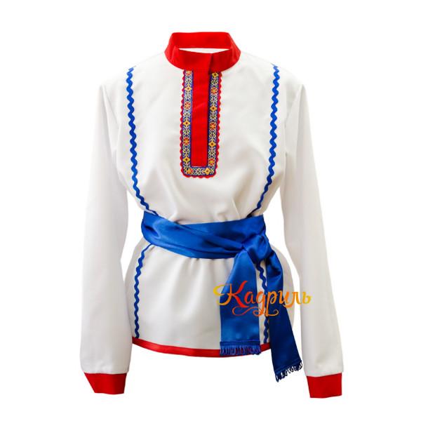 Рубашка народная белая. Рис. 1