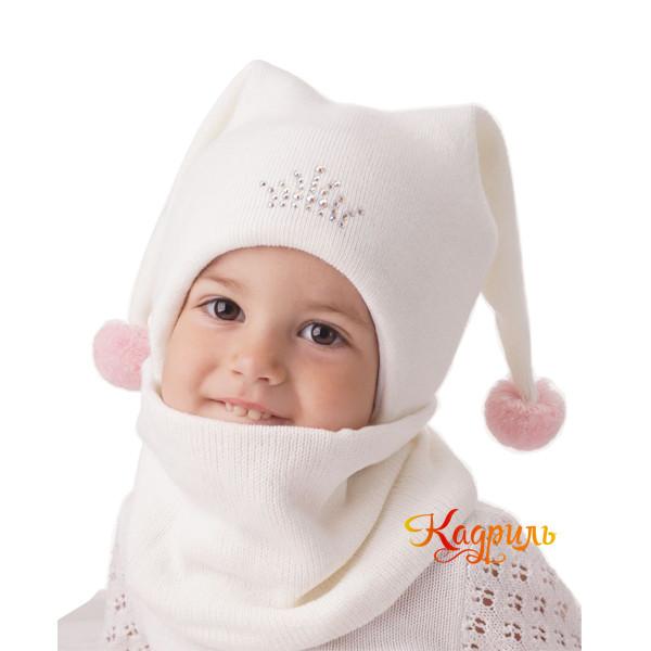 Детская зимняя шапка с ушками. Рис. 1