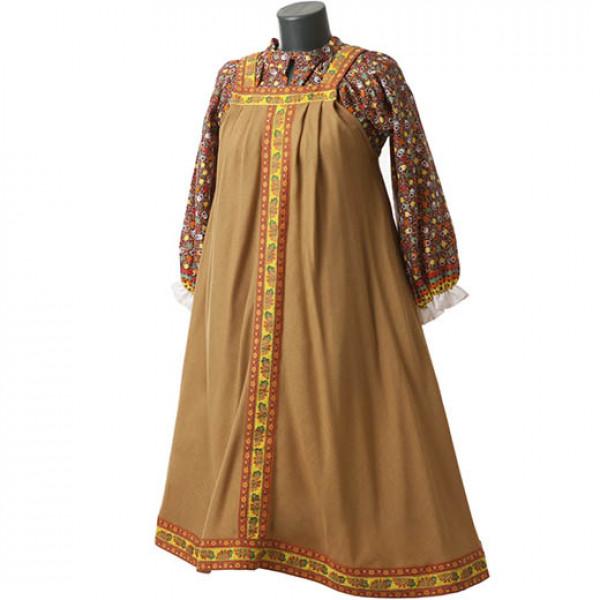 Платье в народном стиле. Рис. 2