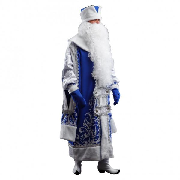 Костюм Деда Мороза царский синий. Рис. 2