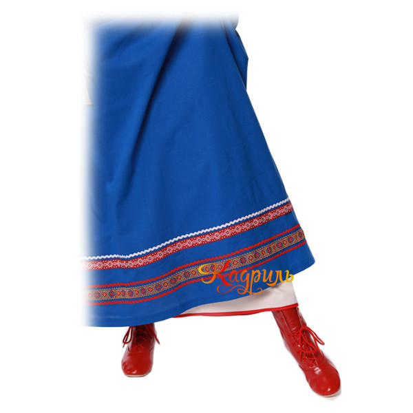 Русский народный сарафан синий. Рис. 3