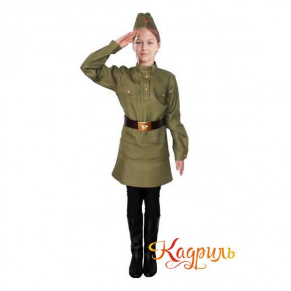 Военный костюм для девочки. Рис. 1