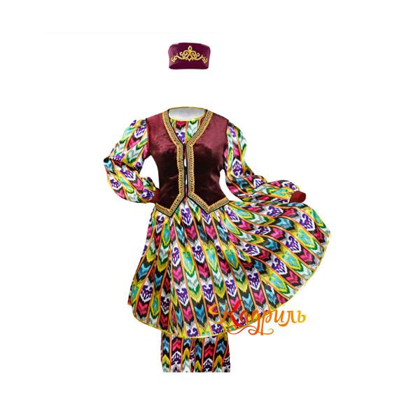 Костюм узбекский женский. Рис. 1