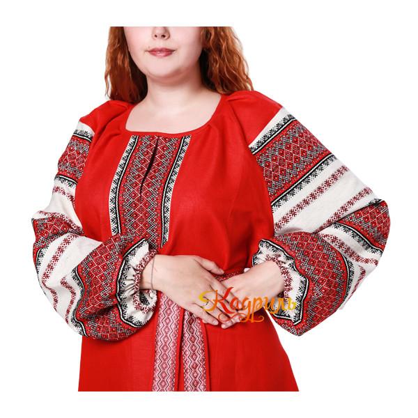 Платье славянское Ася красное. Рис. 2