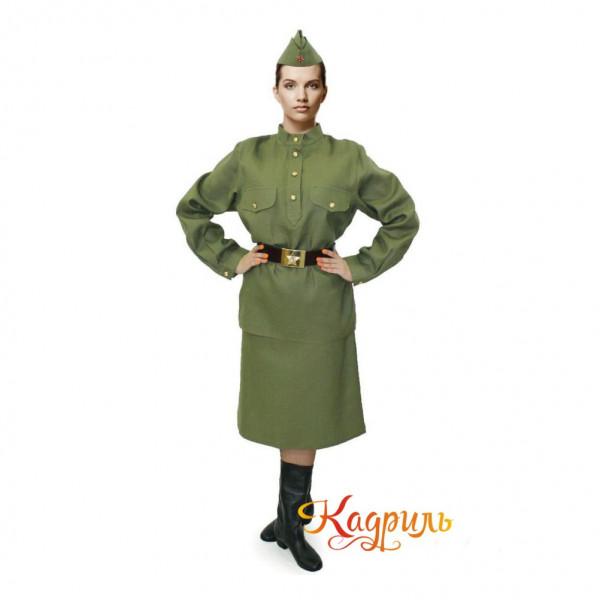 Женский военный костюм. Рис. 1