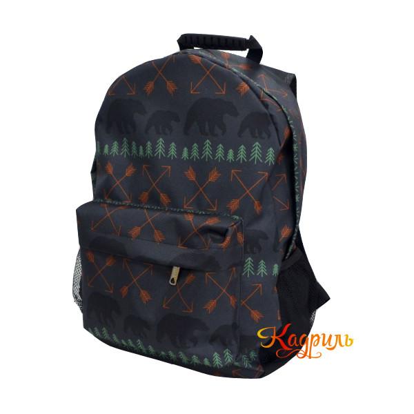Лёгкий черный рюкзак. Рис. 1