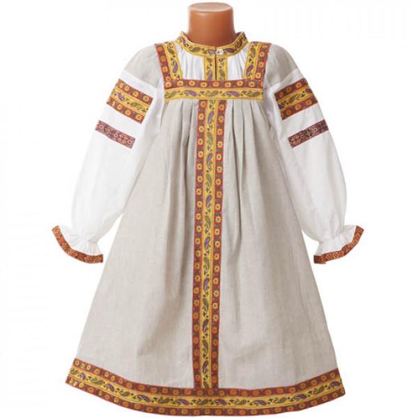 Русский народный сарафан детский. Рис. 2