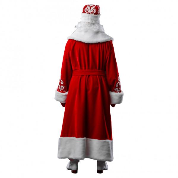 Костюм Деда Мороза из красного велюра. Рис. 3