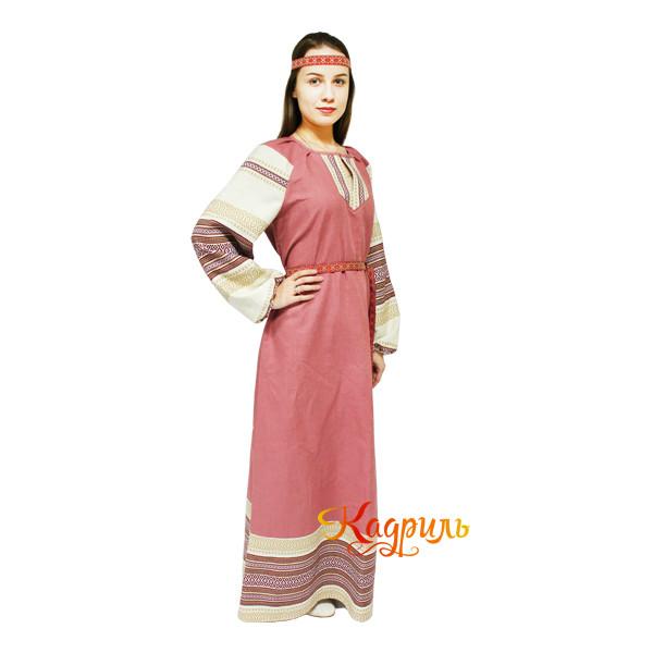 Платье славянское Ася брусничное. Рис. 2