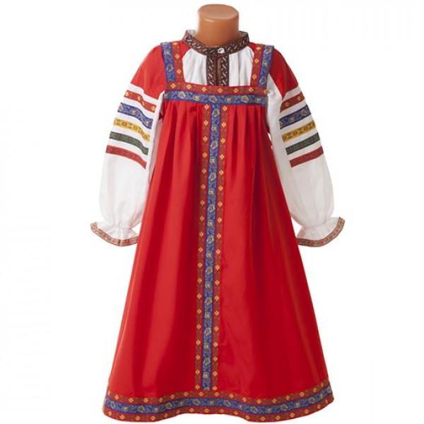 Русский народный сарафан детский. Рис. 3