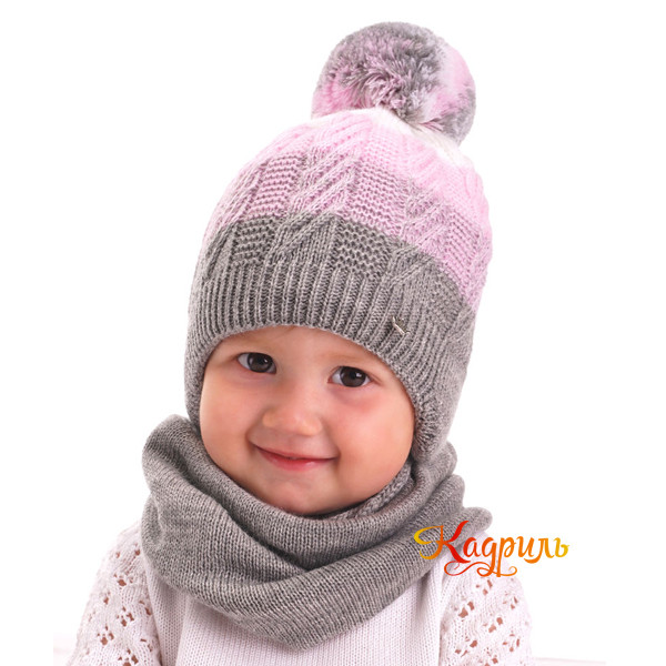 Шапка детская утеплённая с помпоном. Рис. 3