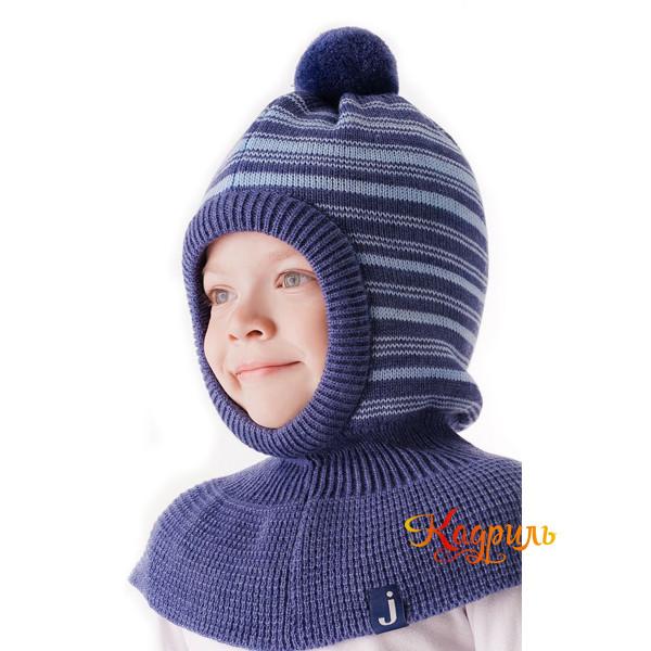 Детская шапка-шлем вязаная. Рис. 2