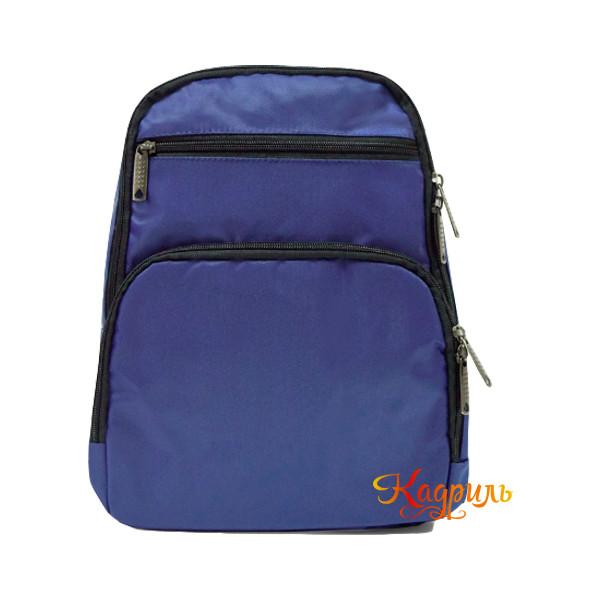 Синий однотонный рюкзак. Рис. 1