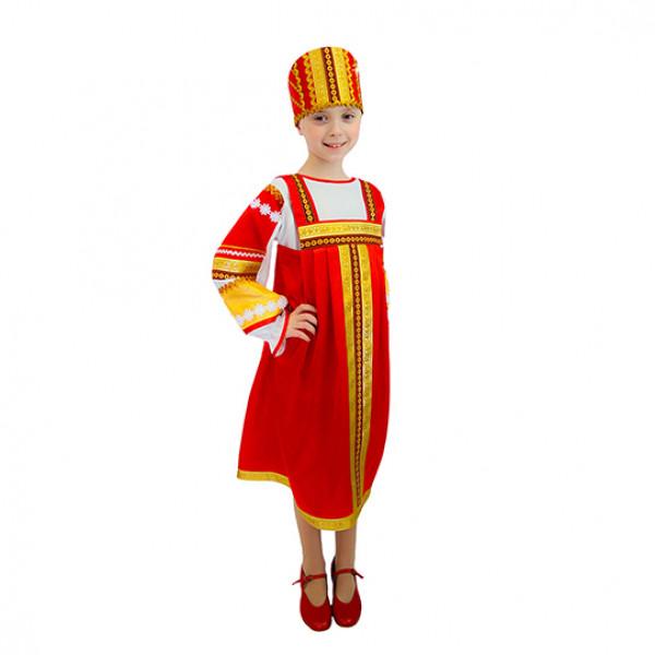 Народный костюм для девочки. Рис. 1
