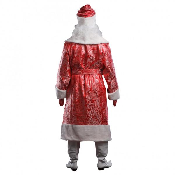 Костюм Деда Мороза красный с узорами. Рис. 3