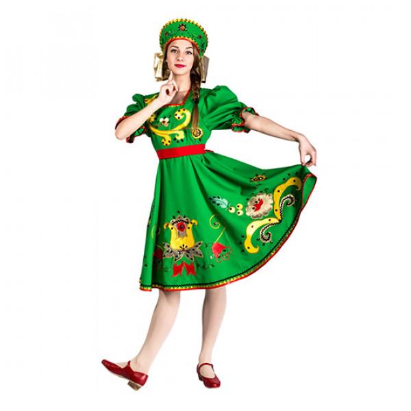 Народный сарафан хохлома. Рис. 1