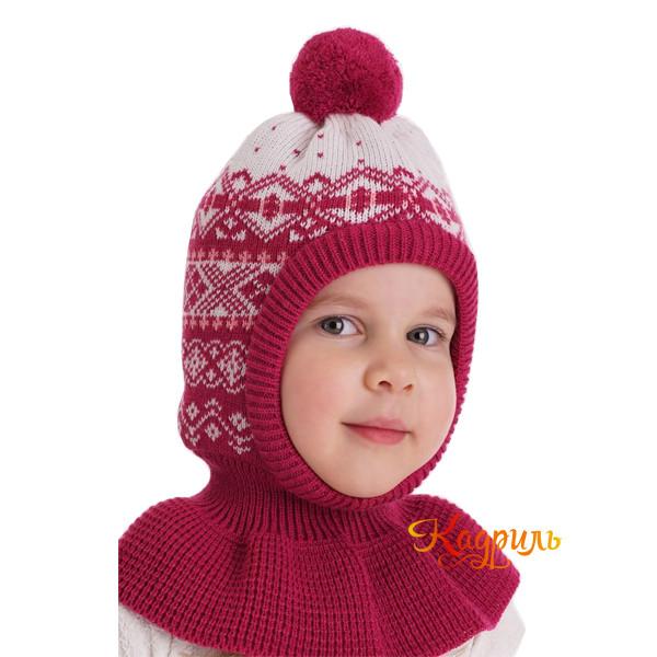 Детская шапка капор утеплённая. Рис. 1