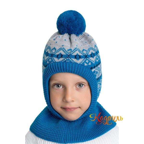 Детская шапка капор утеплённая. Рис. 5